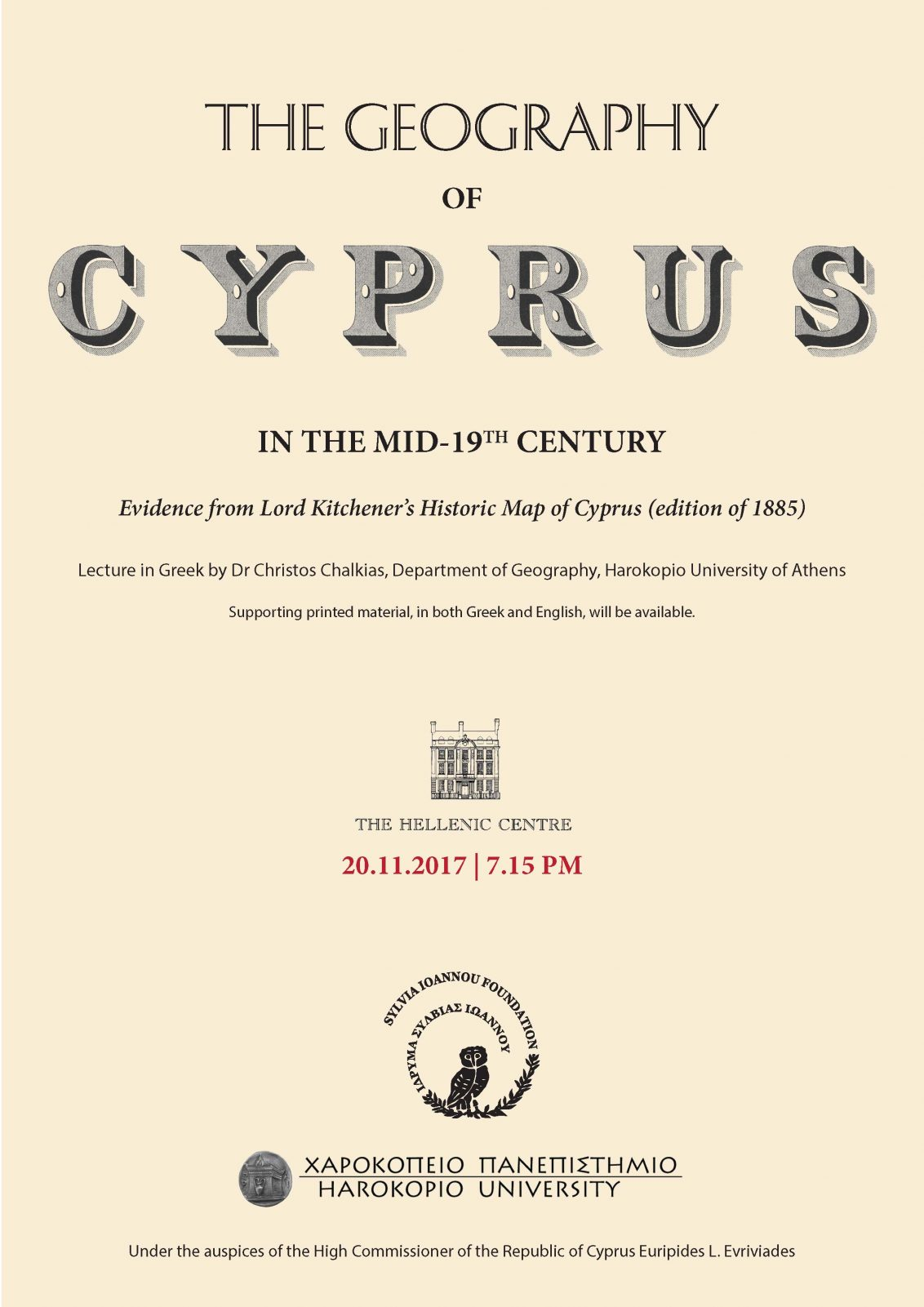 The Geography of Cyprus in the Middle of the 19th Century - Evidence ...